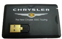 credit card memory, cardisk, Chrysler Logo